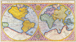 16th century mercator map of the world in latin